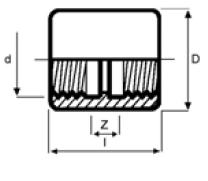 PPh socket threaded diagram