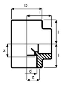 PPh tee 90 diagram