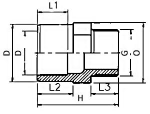 Adaptor - Plain x F - metric-plain- thread