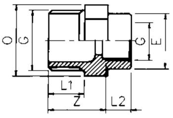 PVC Threaded Reducing Adaptor F x M BSP