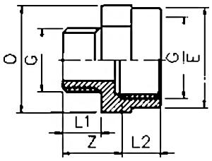 PVC Threaded Reducing Adaptor Male BSP