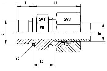 Male Stud Coupling L series Metric