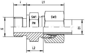 Male Stud Coupling L series Metric Parallel