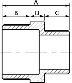 Hexagon Reducing Nipple - Stainless Steel Fittings