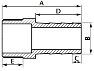 Stainless steel hose tail diagram