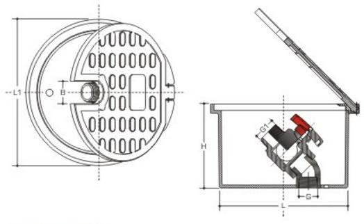 Box diagram with ice valve